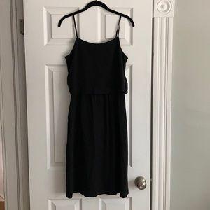 Madewell 100% Silk Cami Overlay Dress